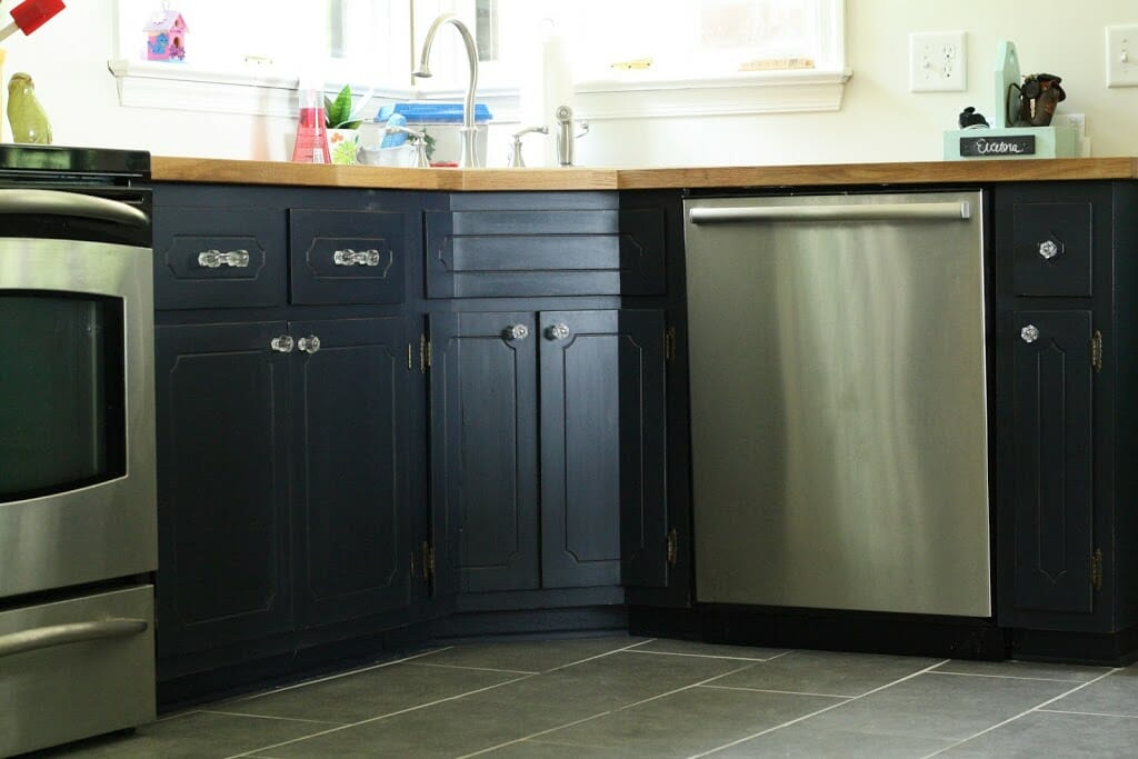 Diy Navy Kitchen Cabinets