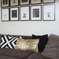 Playroom Photo Grid Wall Featuring DIY Printables and The Animal