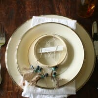 Be Our Guest: Thanksgiving Table with DIY Dreamcatcher Place Card