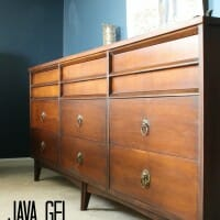"""My """"New"""" Java Gel Midcentury Dresser and a Shiny New"""