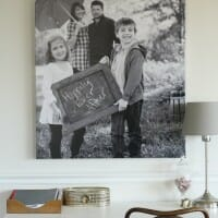 More Living Room Updates with a Snapbox Gallery Wrapped Canvas
