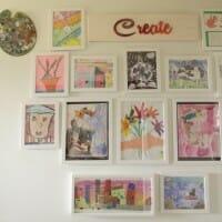 Creating a Kids Art Gallery Wall