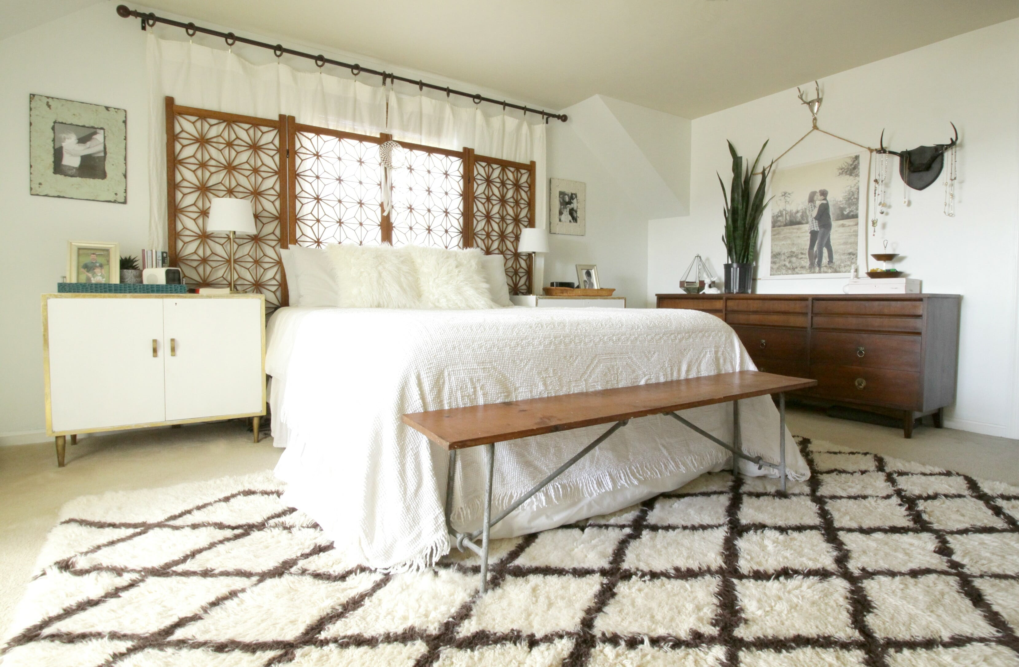 Boho Modern White And Wood Master Bedroom And Getting A Good Night 39 S Sleep With Addable