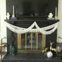 Simple Modern Boho Mantle