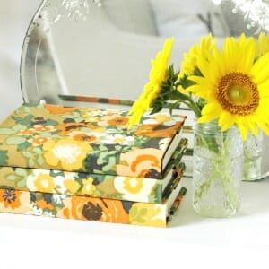 Love of Home. Fabric Covered Books