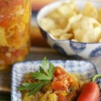No Sugar Added Peach Salsa (A Canning Recipe)