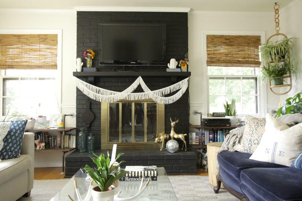 Bamboo-Plant-Hanger-Boho-Living-Room