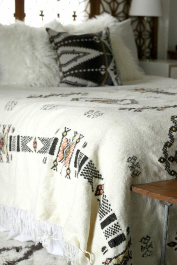 Details of Vintage Indian Wool Blanket