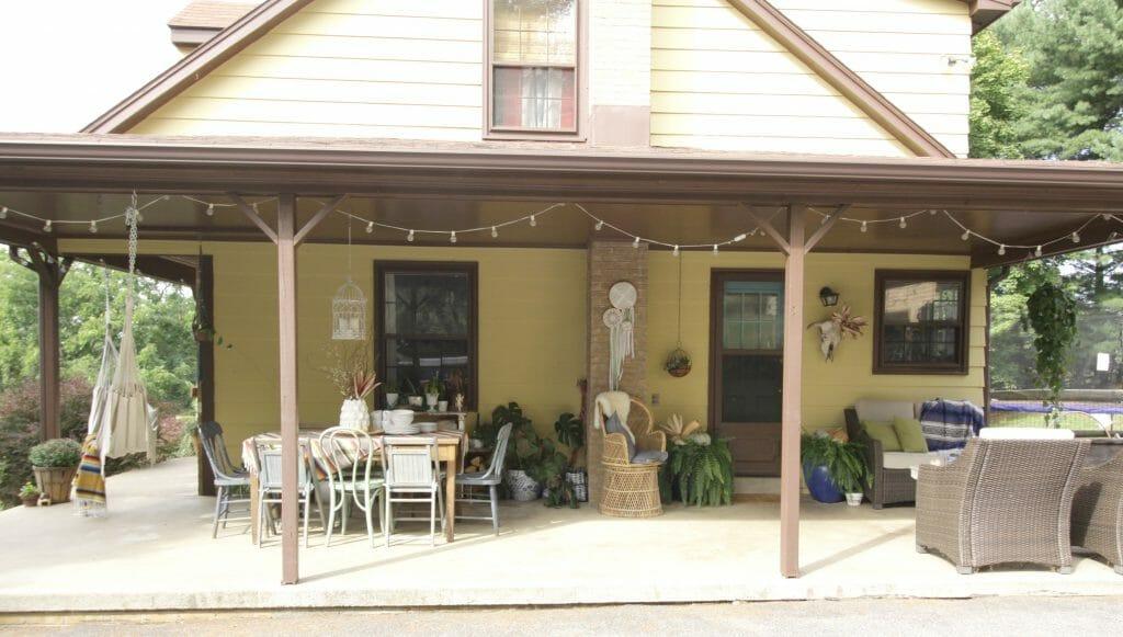 Bohemian Fall Porch