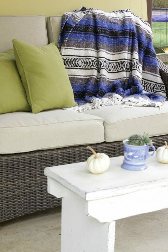 Bohemian Fall Porch with Mexican Blanket