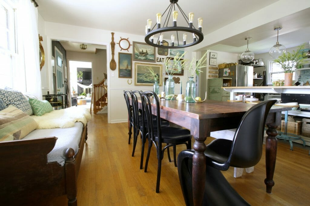 modern-bohemian-dining-room-bentwood-panton-chairs