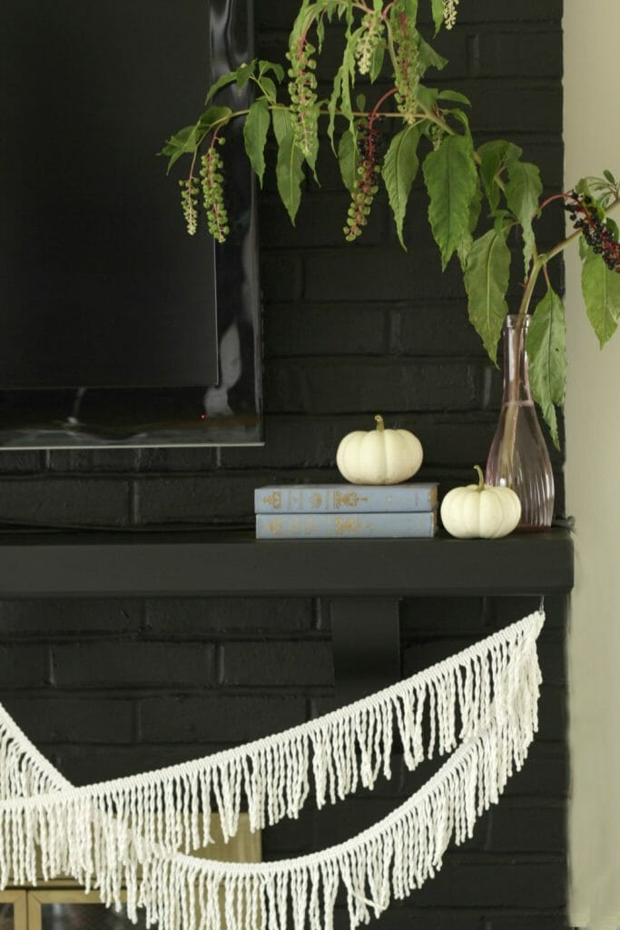 pokeberries-as-mantle-decor-fall-fringe-white-pumpkins