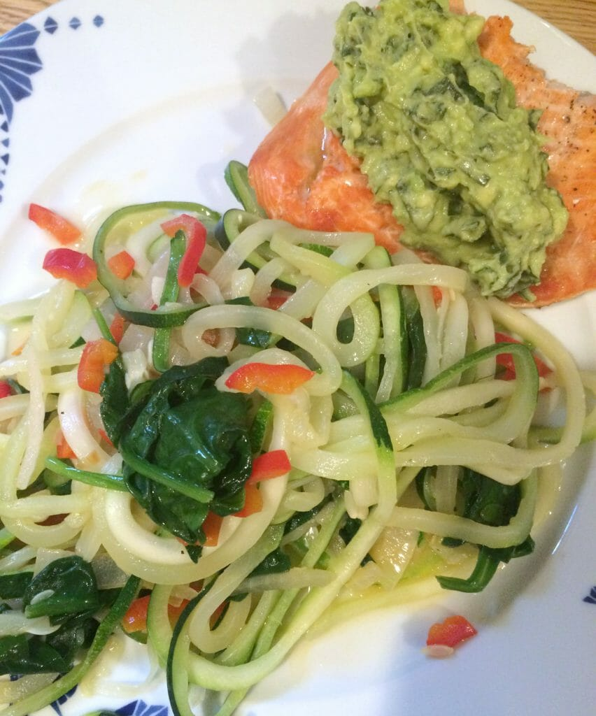 salmon-basil-avocado-spiralizer-zoodles