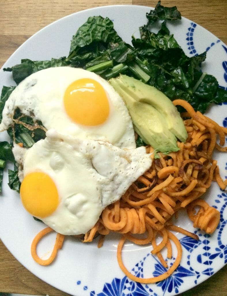 sweet-potato-noodles-kitchenaid-spiralizer
