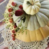 Dried Floral Tiered Pumpkin Centerpiece (Wedding Cake Inspired!)
