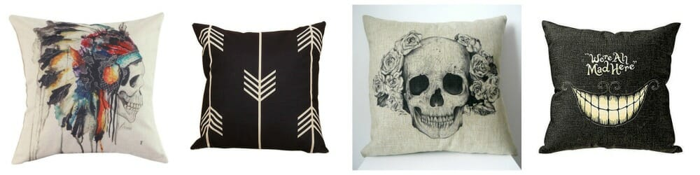 Affordable Halloween Skull Pillows