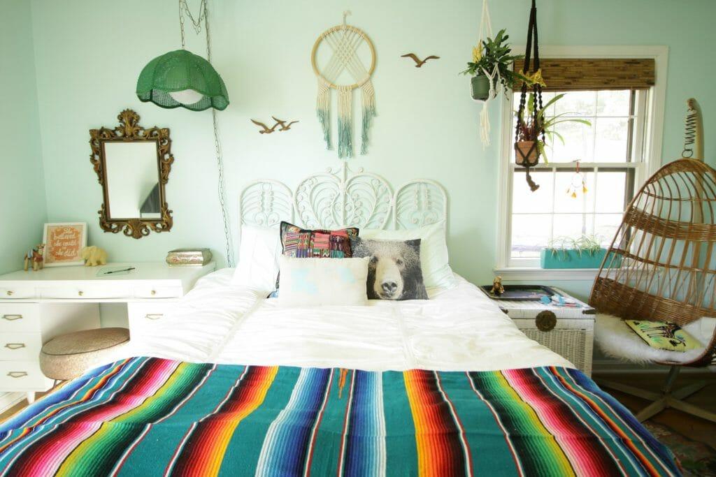 aqua-boho-tween-bedroom-progress