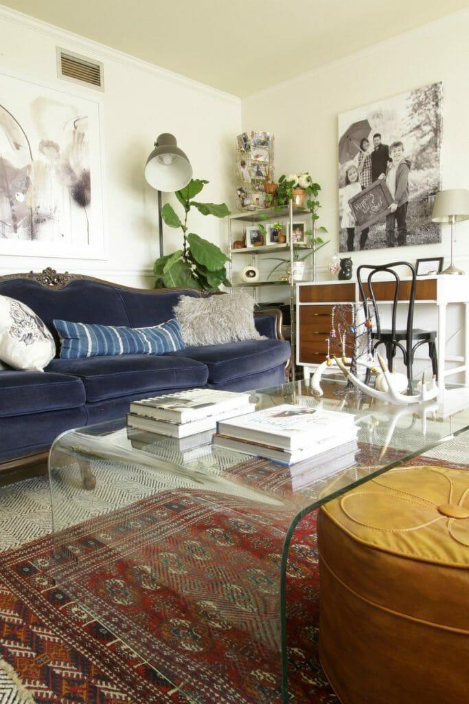 bohemian-vintage-modern-living-room