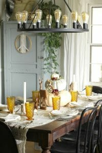 Vintage Eclectic Fall Table