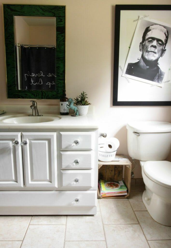 Frankenstein Poster Over Toilet