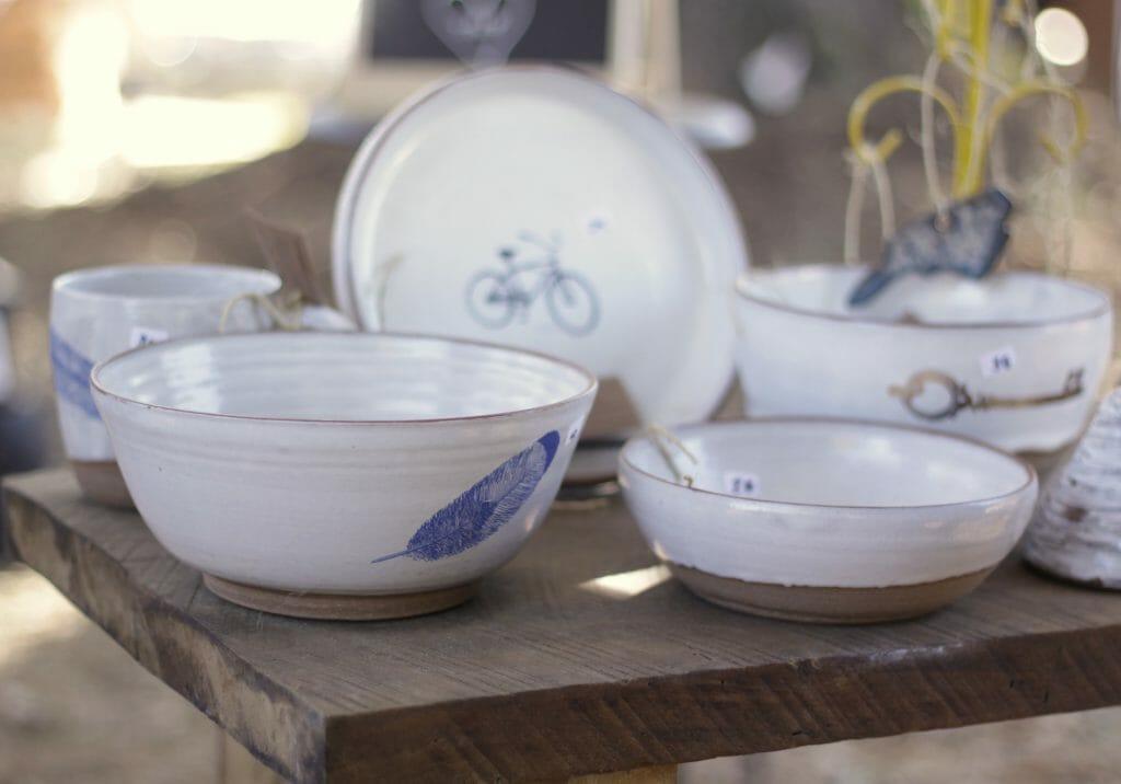 gorgeous pottery at nest fest