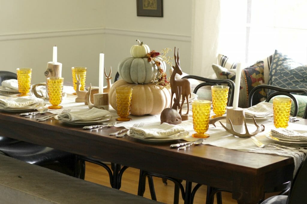 Modern Boho Fall Table