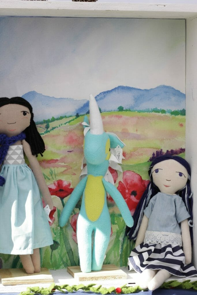 Organic Felted Dolls