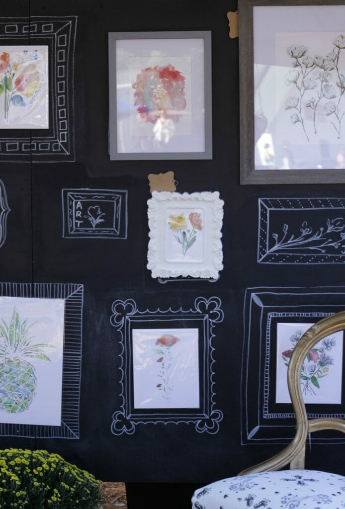 art display at nest fest