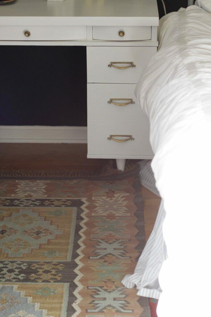 Pastel Small Kilim Vintage Rug