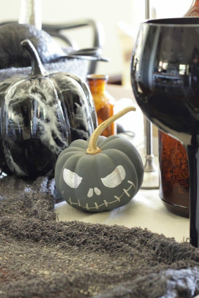 Chalk Painted Halloween Pumpkin