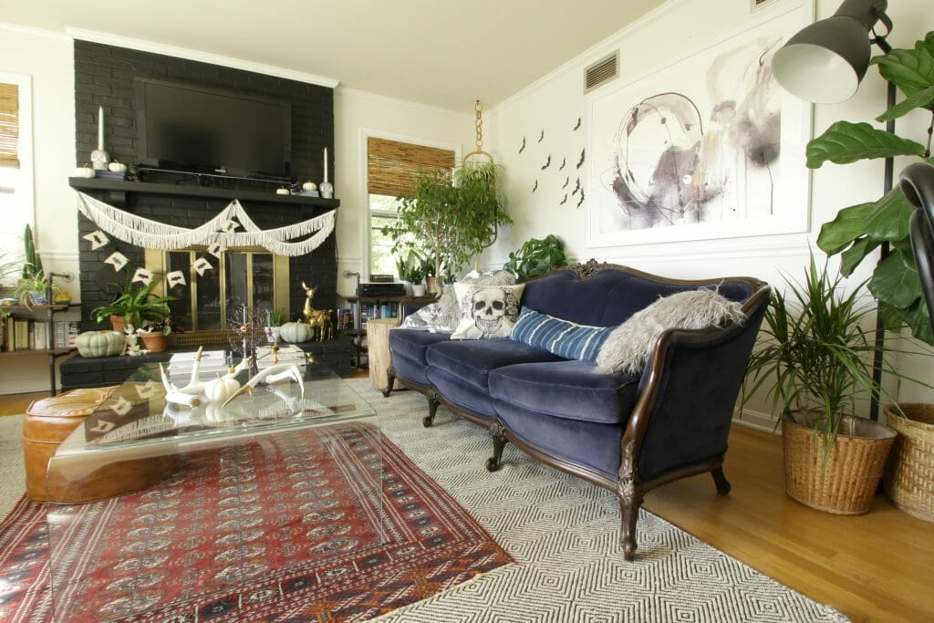 Bohemian Living Room at Halloween