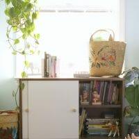 Quick Midcentury Bookcase Makeover: Replacing Sliding Doors