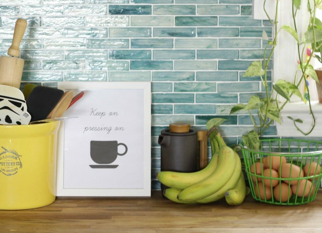 Keep on pressing on coffee printable