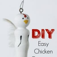 DIY Chicken Ornament