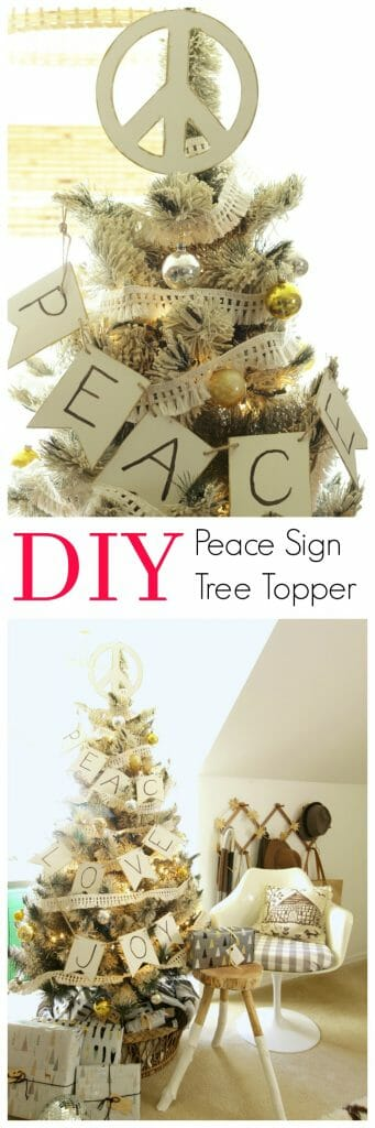 DIY Peace Sign Christmas Tree Topper