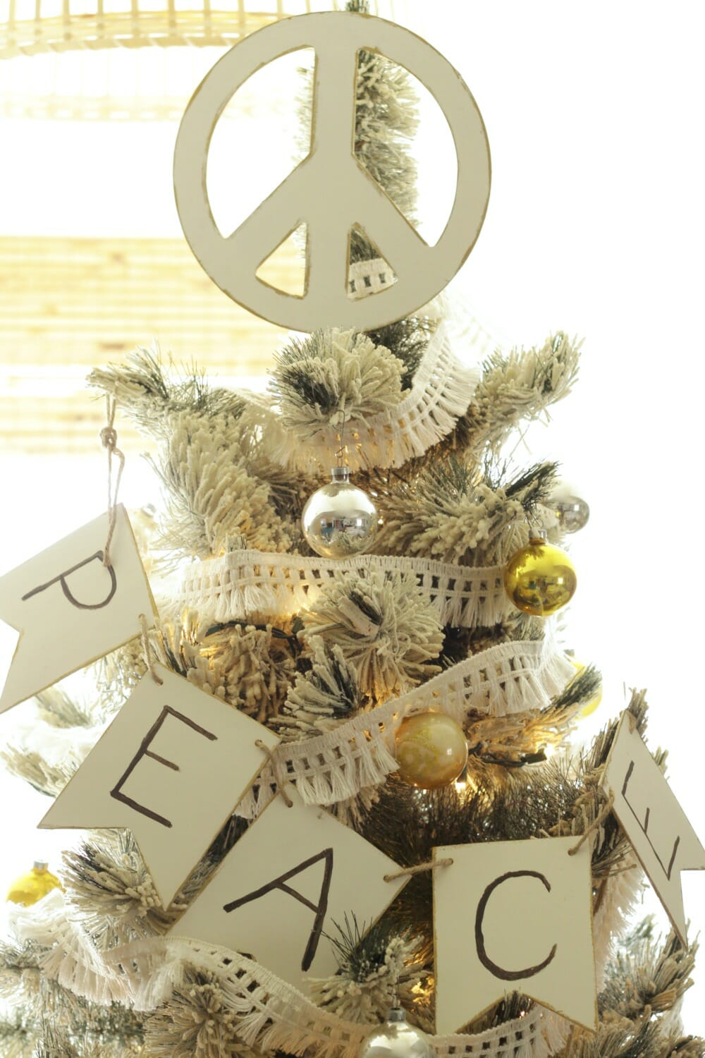 DIY Peace Sign Tree Topper - Cassie Bustamante