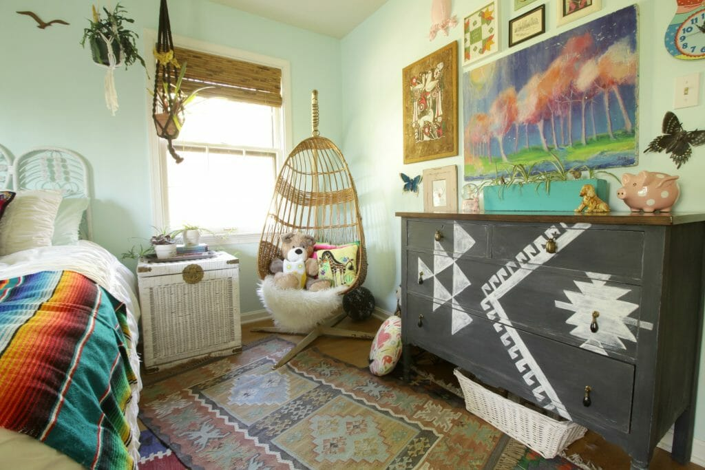 Boho Eclectic Vintage Girls Room