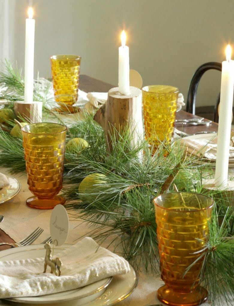 Rustic Farmhouse Style Holiday Table