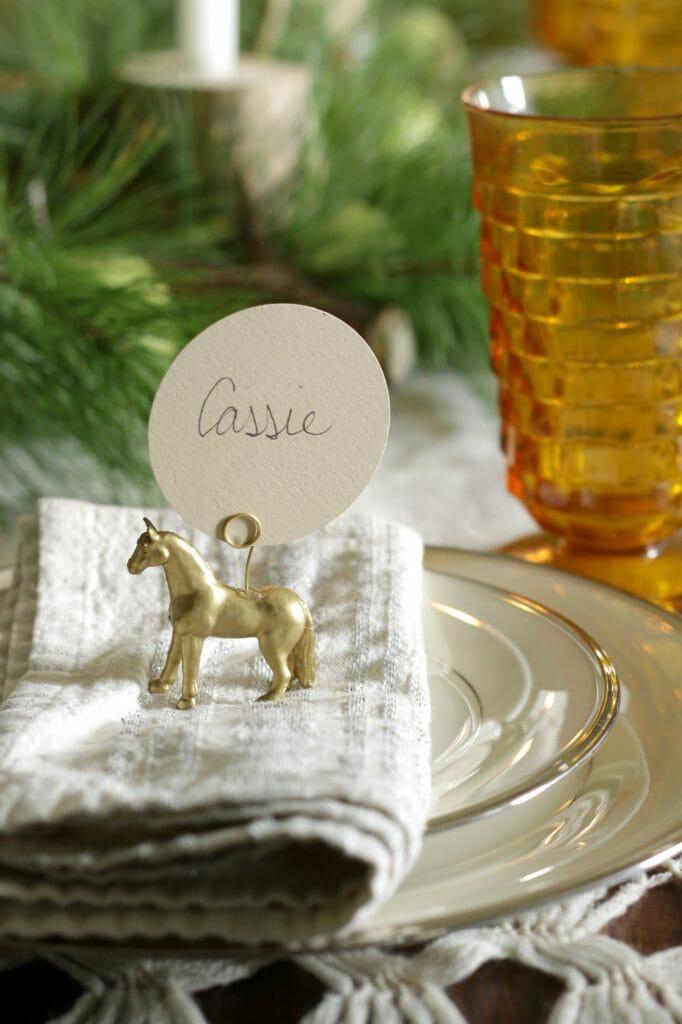 Gold Horse Place Card Holder DIY