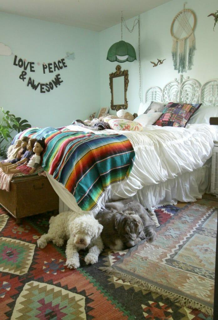 mexican-boho-girls-room-progress