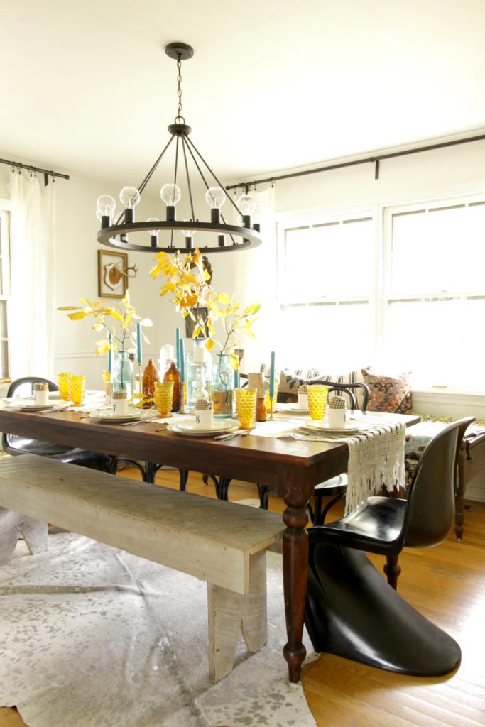 Bohemian Vintage Dining Room at Thanksgiving