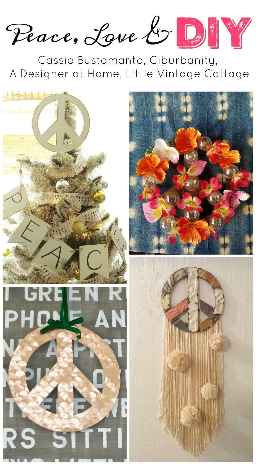 Peace Christmas Tree Topper.Diy Peace Sign Tree Topper Cassie Bustamante