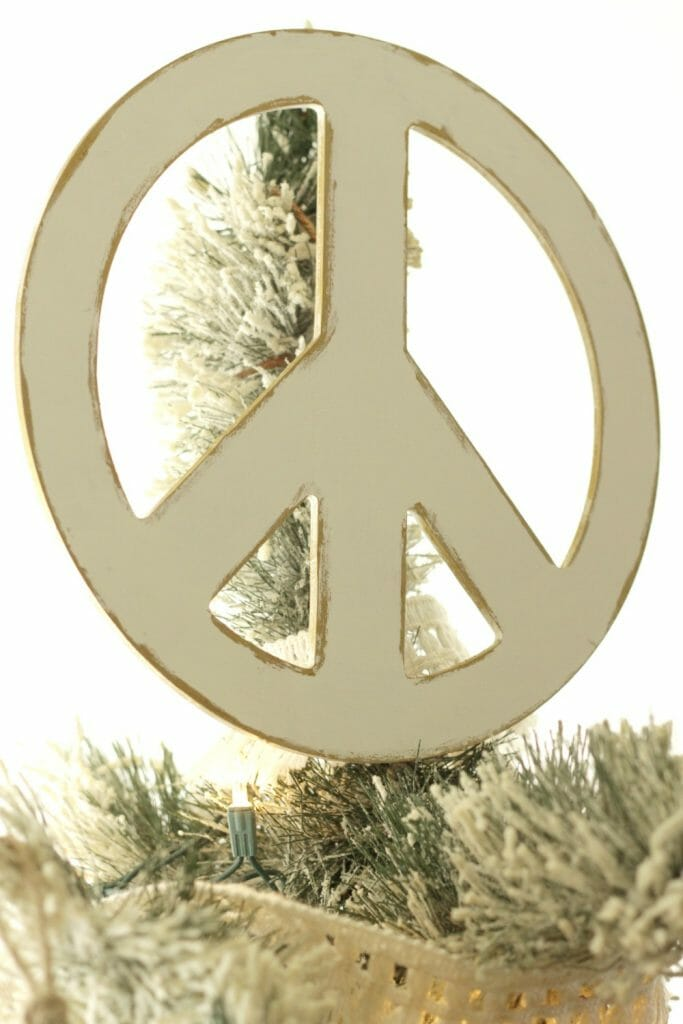 Peace Sign Tree Topper DIY