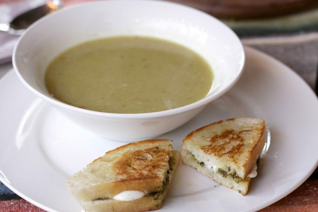 Grilled Pesto & Mozzarella Sandwich