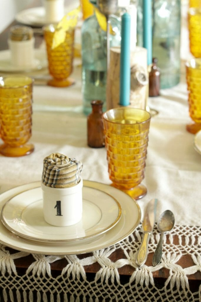 Vintage Thanksgiving Table Place setting