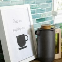 """My Less Breakable French Press & Free """"Keep Pressing O"""