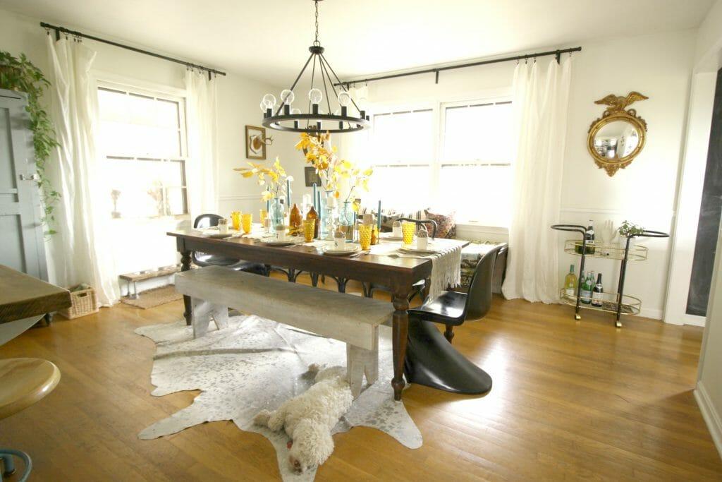 Modern Vintage Bohemian Dining Room