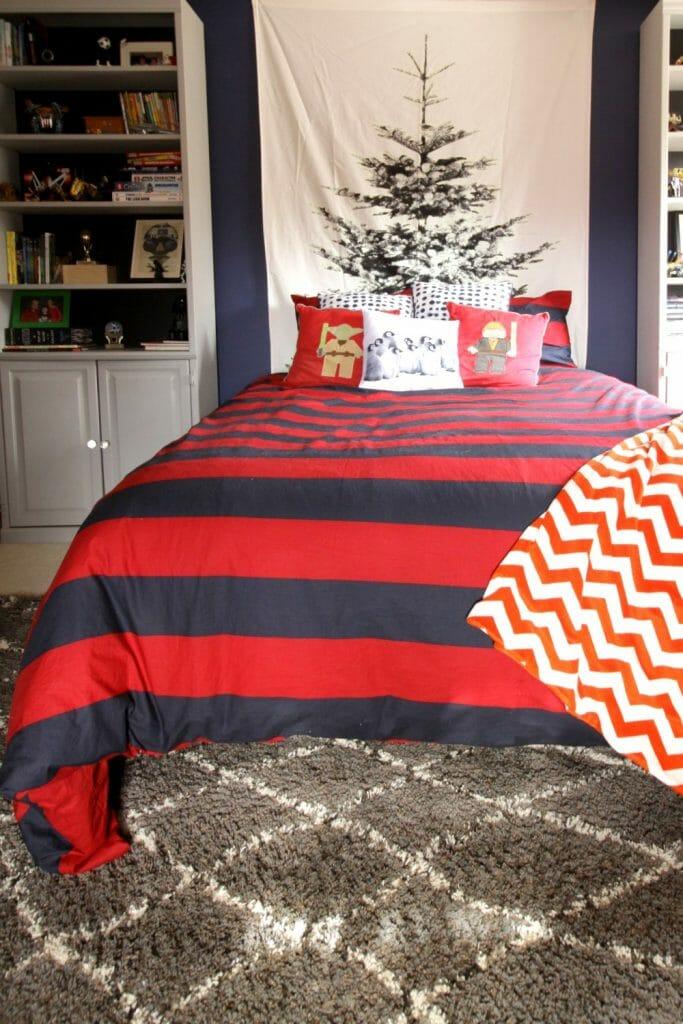 Boy's room at Christmas