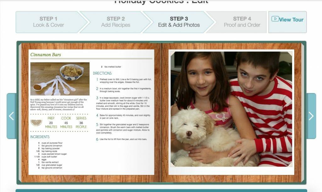 inside of Cookbook Create