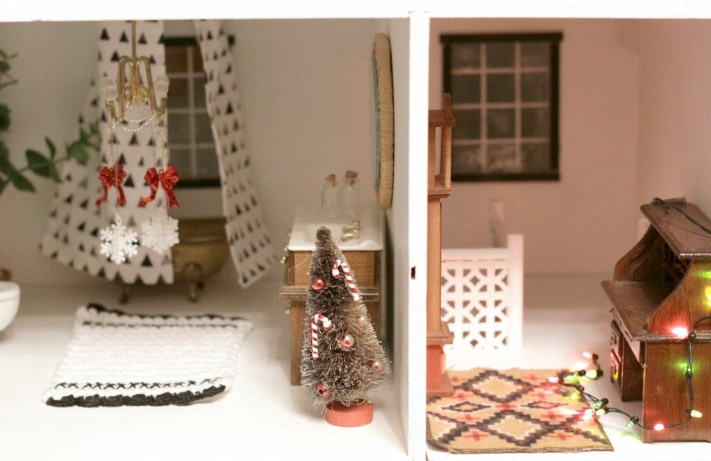 Dollhouse at Christmas